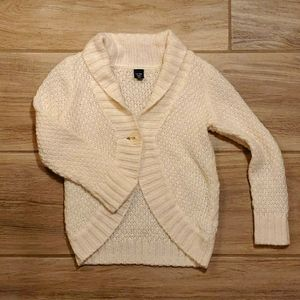 GAP Single Button L/S Roll Collar Cardigan